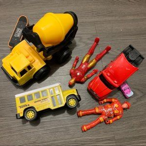 Tonka yellow school bus and other toys lot